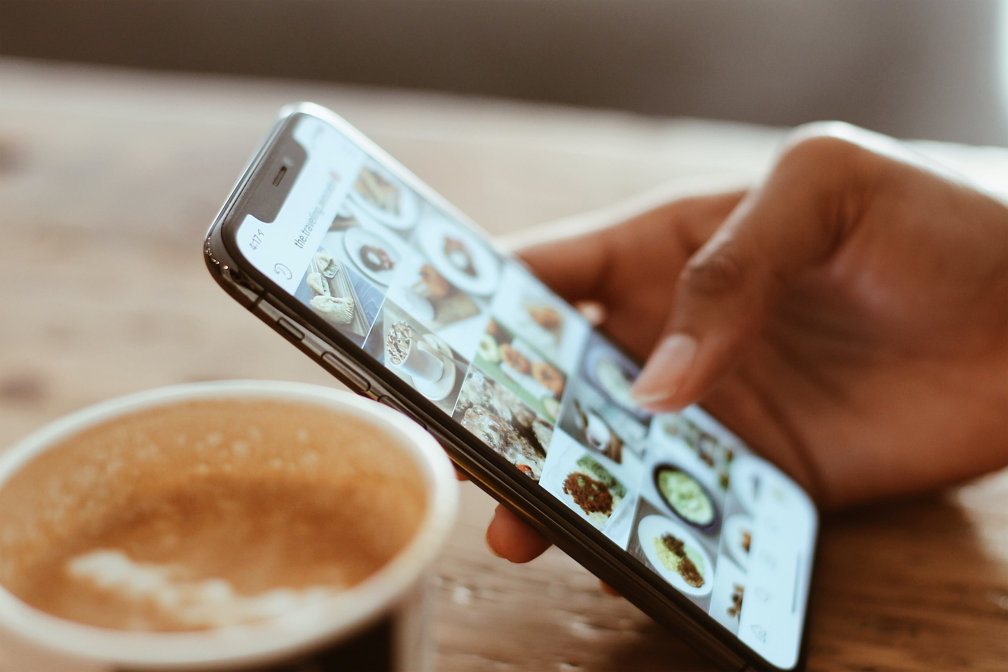 A person browsing through a restaurant's Instagram Shopping Page  Photo by Kerde Severin from Pexels