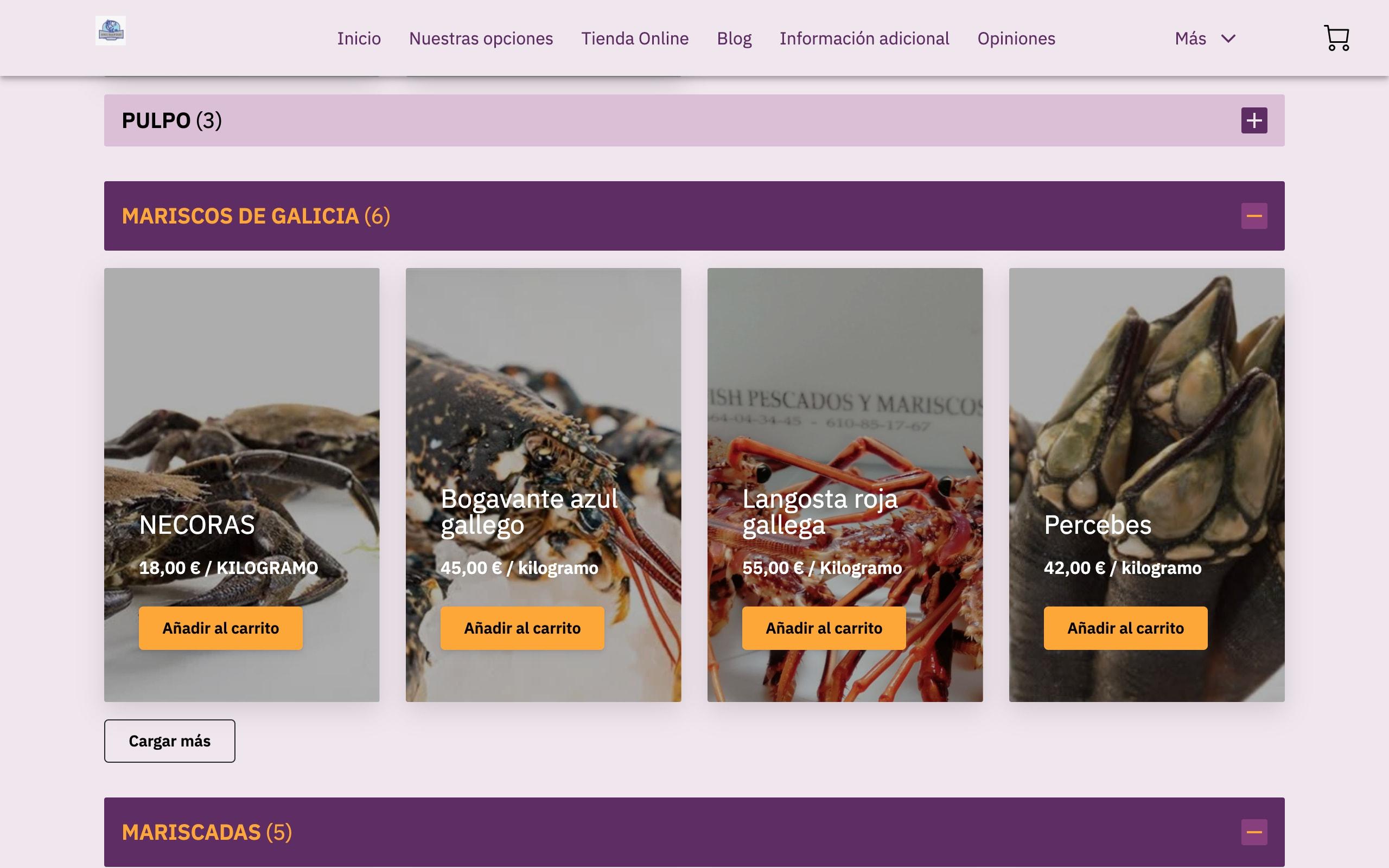 Onubafish Huelva   Productos