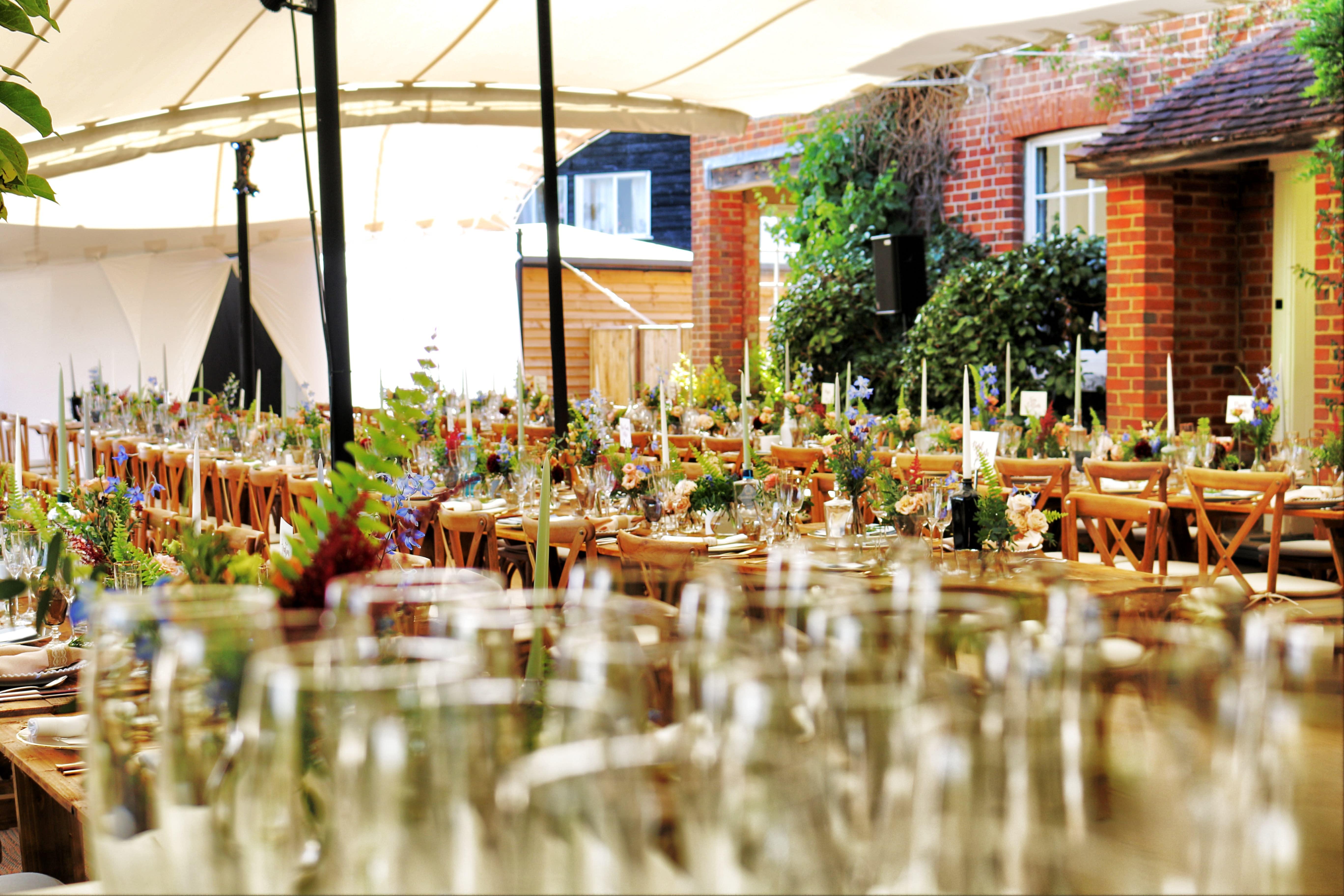 A photo of a plant arrangement facility