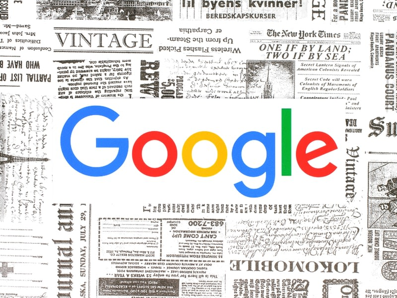 Google covered by a newspaper